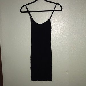 Black cami slip dress